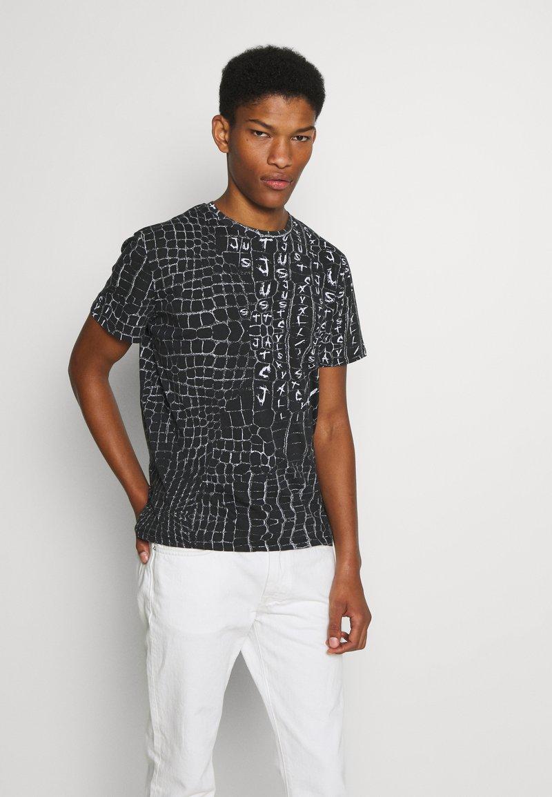 Just Cavalli - ANIMAL PRINT - T-shirt z nadrukiem - black