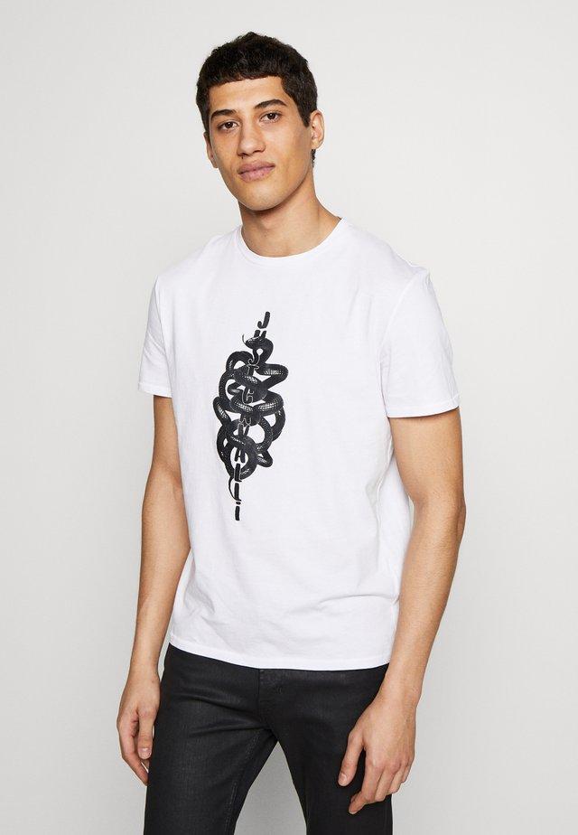 SNAKE - T-shirt med print - white