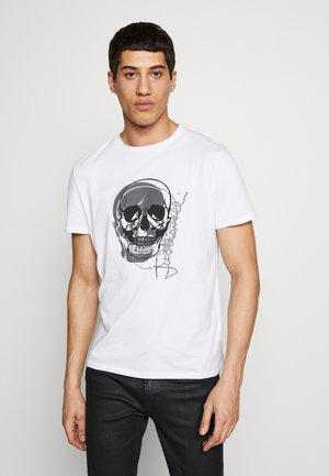 SKULL - T-shirt con stampa - white