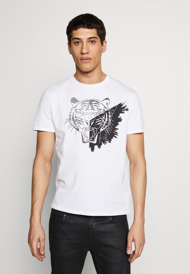 TIGER - T-shirt print - white