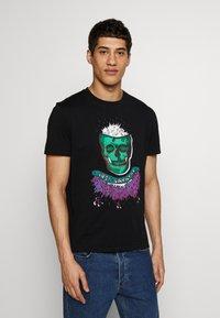 Just Cavalli - COLOUR SKULL - Print T-shirt - black - 0