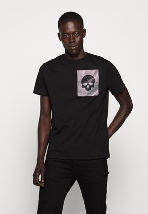 SPARKLY SKULL - T-shirt con stampa - black