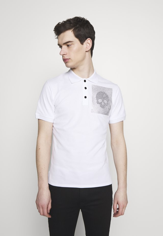 SPARKLY SKULL - Polo - white