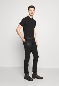 Just Cavalli - SIDE TAPING - Polo shirt - black - 1
