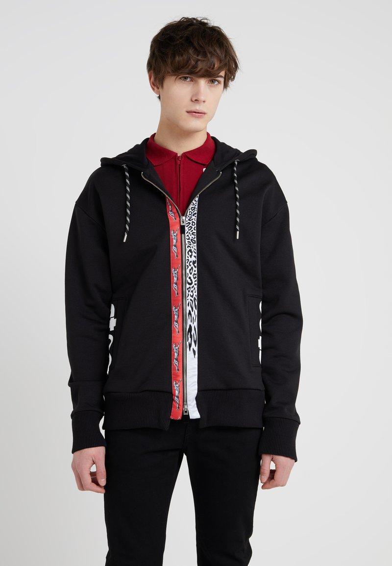 Just Cavalli - Zip-up hoodie - black