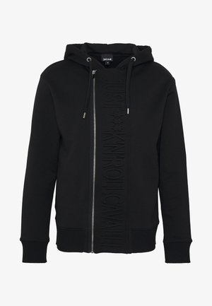 JACKET - Felpa aperta - black