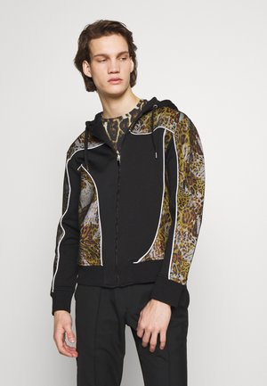 ANIMAL PRINT TRACK JACKET - Zip-up hoodie - black