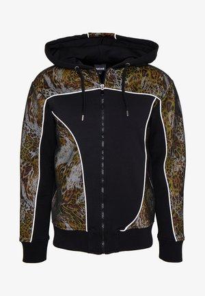 ANIMAL PRINT TRACK JACKET - Zip-up hoodie - black