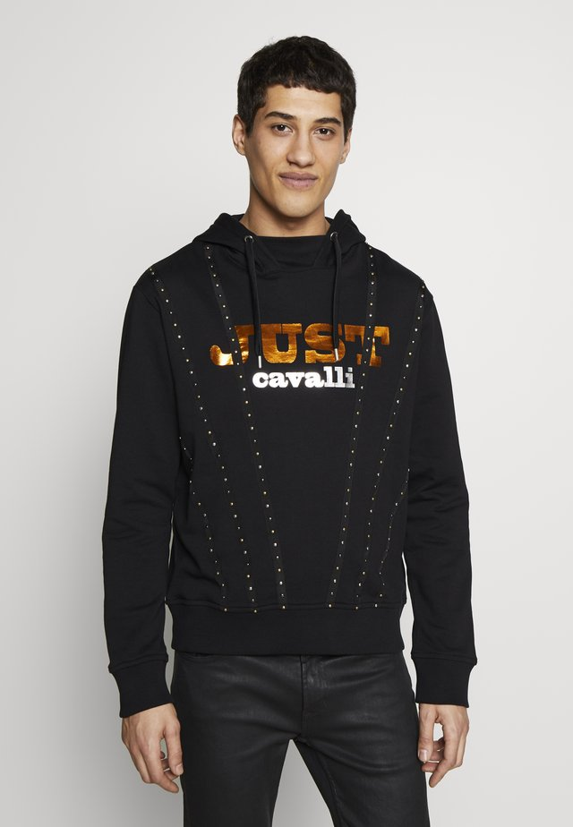 LOGO TAPING HOODIE - Sweat à capuche - black
