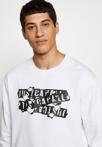 Just Cavalli - BURN LOGO - Felpa - white - 3