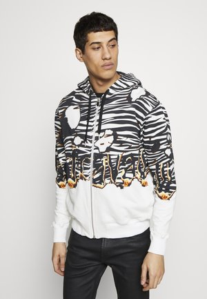 JACKET ZEBRA PRINT - veste en sweat zippée - white