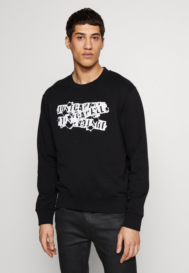 BURN LOGO - Sweatshirt - black