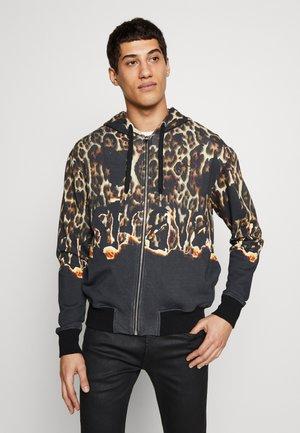 JACKET LEOPARD PRINT - Zip-up hoodie - black