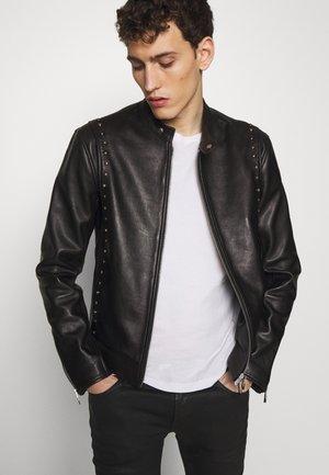 BIKER - Leather jacket - black