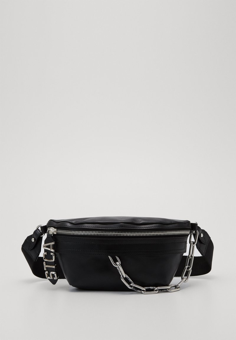 Just Cavalli - BAND WITH A CONTRAST LOGO - Ledvinka - black