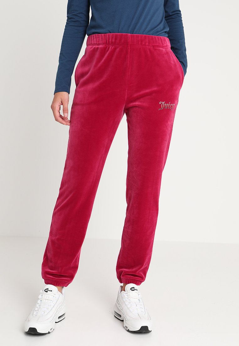 Juicy Couture - OMBRE STUDS LUXE PANT - Spodnie treningowe - raspberry pink