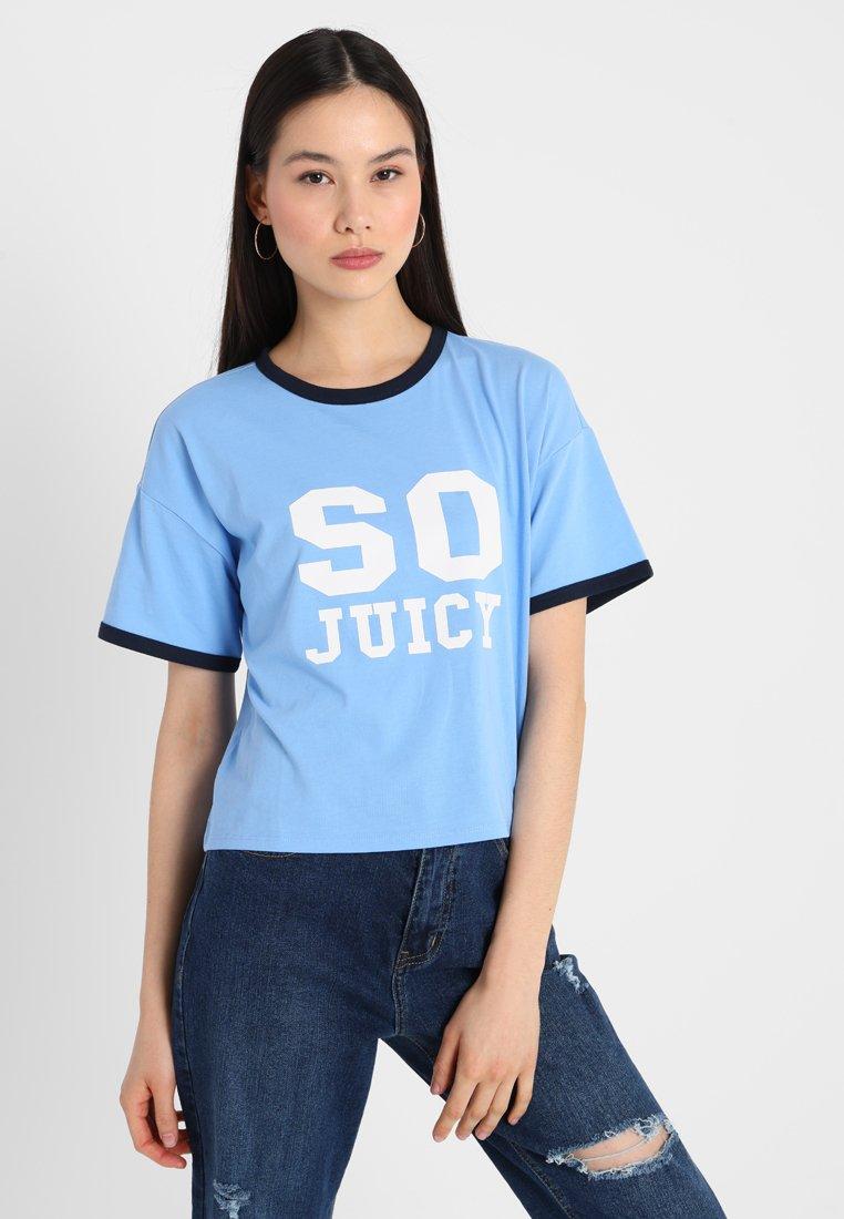 Juicy Couture - LOGO GRAPHIC TEE - Camiseta estampada - light/pastel blue