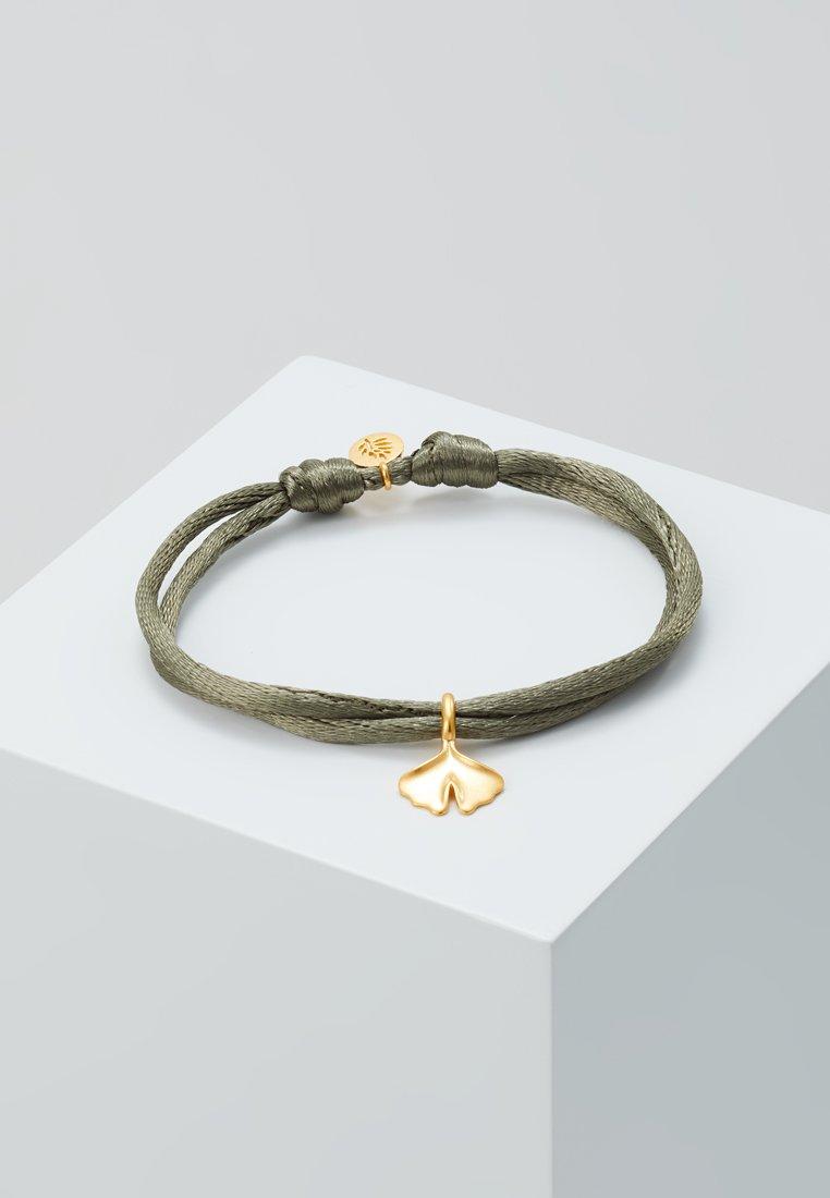 Julie Sandlau - GINKGO BRACELET - Bracelet - khaki/gold-coloured