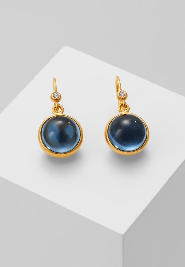 Julie Sandlau - PRIME EARRING - Earrings - gold-coloured/sapphire blue