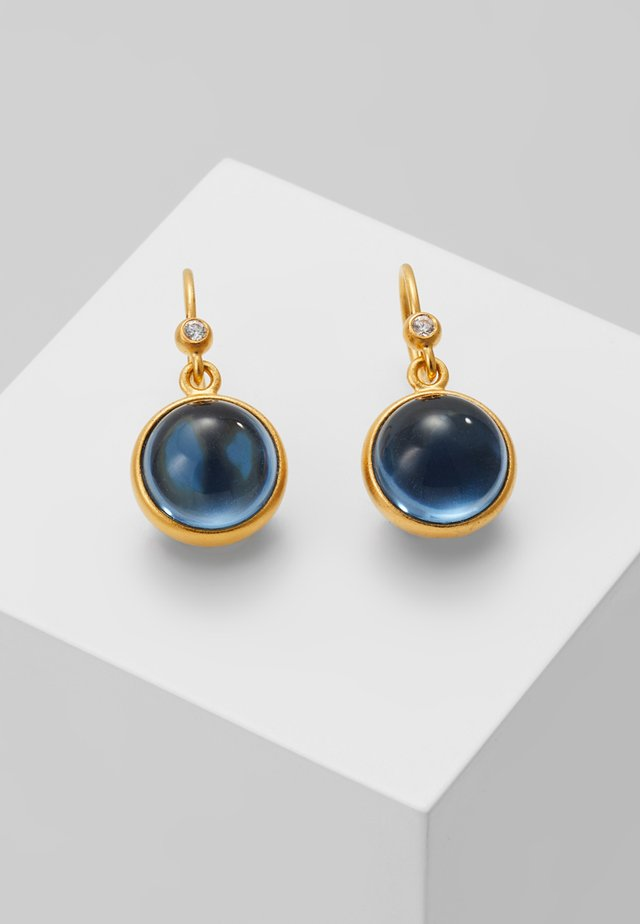 PRIME EARRING - Kolczyki - gold-coloured/sapphire blue