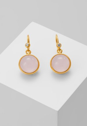 PRIME EARRING - Pendientes - gold-coloured/milky rose