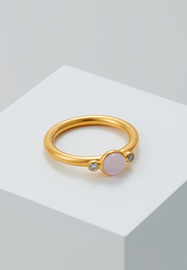 LITTLE PRIME - Pierścionek - gold-coloured/milky rose crystal