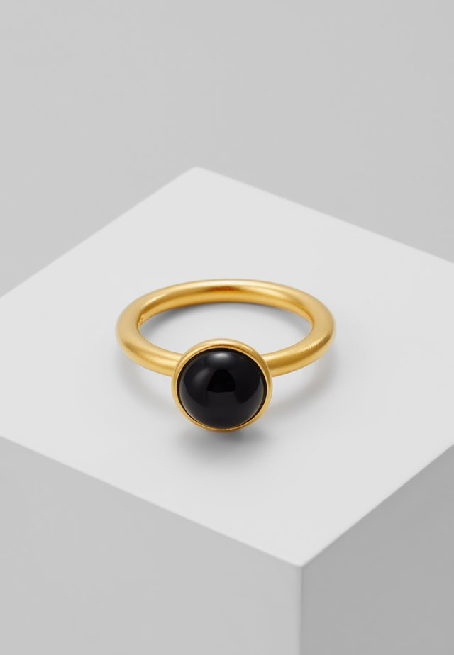 PRIMINI RING - Pierścionek - gold-coloured/black