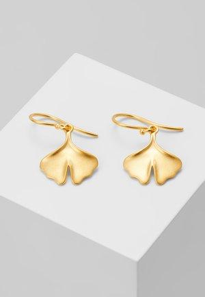GINKGO EARRINGS - Ohrringe - gold-coloured