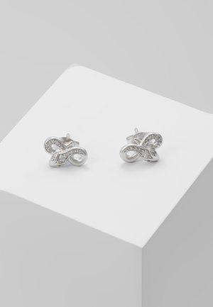 BOA TWISTED EARSTUDS - Ohrringe - silver-coloured