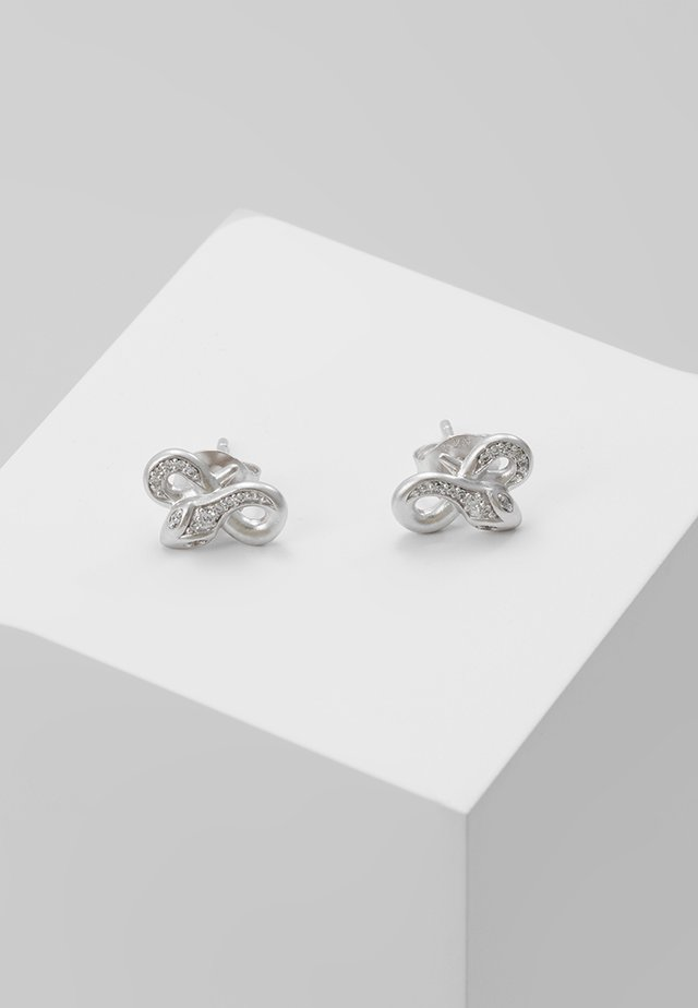 BOA TWISTED EARSTUDS - Korvakorut - silver-coloured