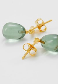 Julie Sandlau - BAMBOO WISDOM EARSTUDS - Náušnice - gold-coloured/dusty green - 2