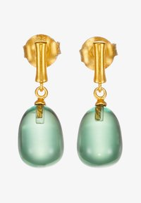 Julie Sandlau - BAMBOO WISDOM EARSTUDS - Náušnice - gold-coloured/dusty green - 3