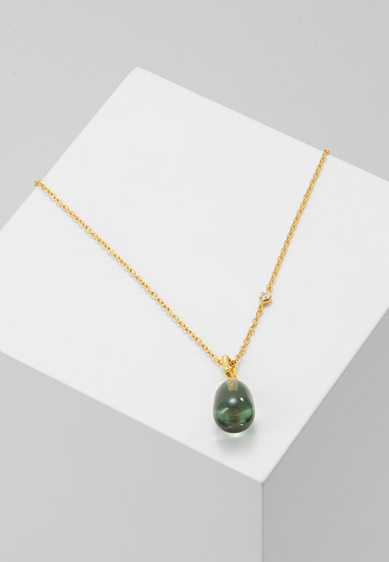 Julie Sandlau - BAMBOO WISDOM NECKLACE - Necklace - gold-coloured/dusty green spinel