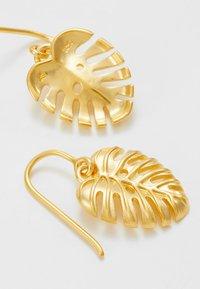 Julie Sandlau - BAMBOO PHILO LEAF EARRINGS - Ohrringe - gold-coloured - 2