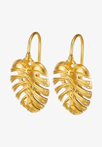 Julie Sandlau - BAMBOO PHILO LEAF EARRINGS - Ohrringe - gold-coloured - 3
