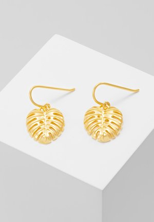 BAMBOO PHILO LEAF EARRINGS - Kolczyki - gold-coloured