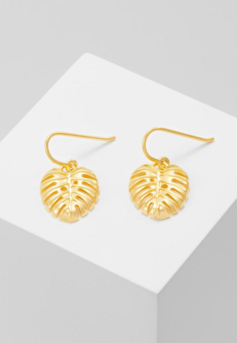Julie Sandlau - BAMBOO PHILO LEAF EARRINGS - Ohrringe - gold-coloured