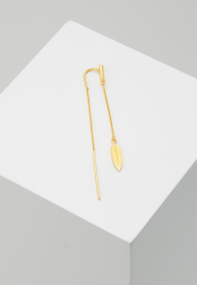 BAMBOO LEAF SINGLE EARRING - Kolczyki - gold-coloured