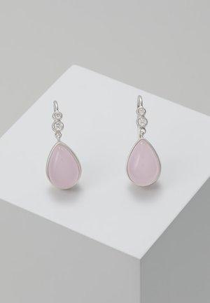 POETRY EARRINGS - Ohrringe - silver-coloured/rose