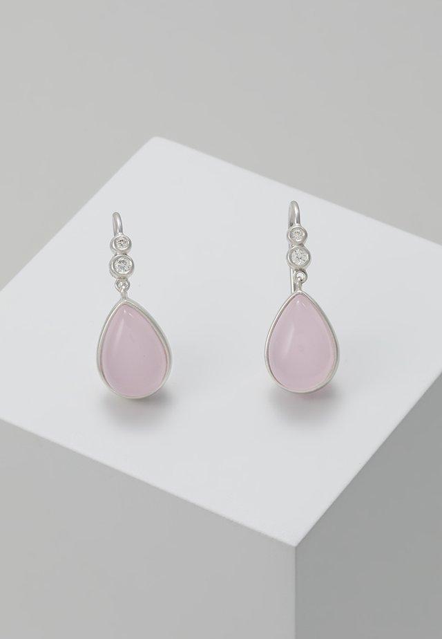 POETRY EARRINGS - Øreringe - silver-coloured/rose
