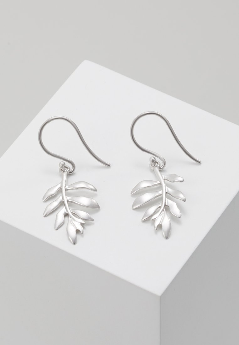 Julie Sandlau - CLASSIC LITTLE TREE OF LIFE EARRINGS - Earrings - silver-coloured