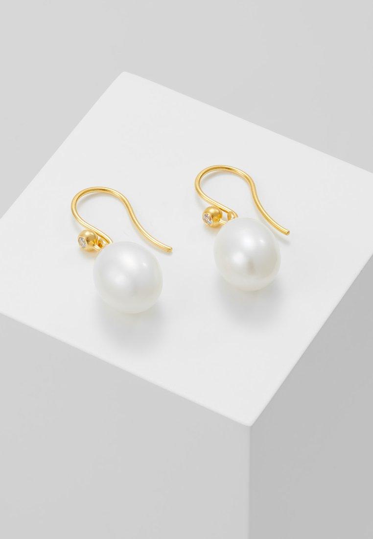 Julie Sandlau - AFRODITE EARRINGS - Náušnice - gold-coloured/white