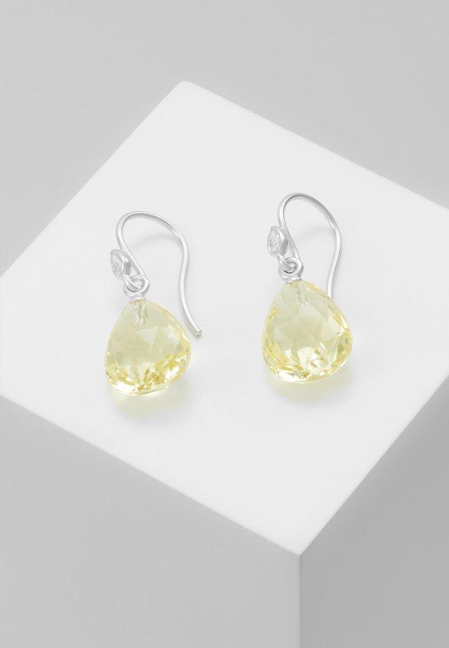 BALLERINA EARRINGS - Øreringe - lemon/crystal