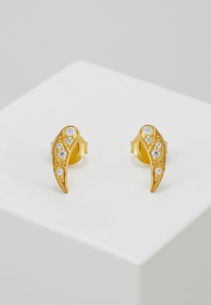 PEACOCK EARSTUDS - Ohrringe - gold-coloured