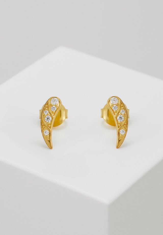 PEACOCK EARSTUDS - Korvakorut - gold-coloured