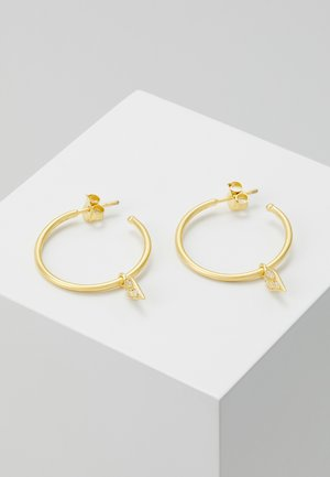 PEACOCK HOOPS  - Ohrringe - gold