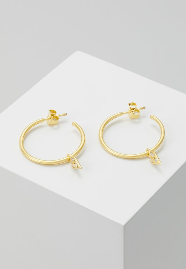 PEACOCK HOOPS  - Oorbellen - gold
