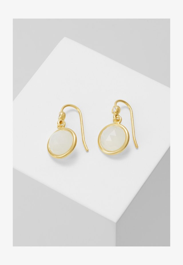 MOONEARRINGS - Oorbellen - gold-coloured/white