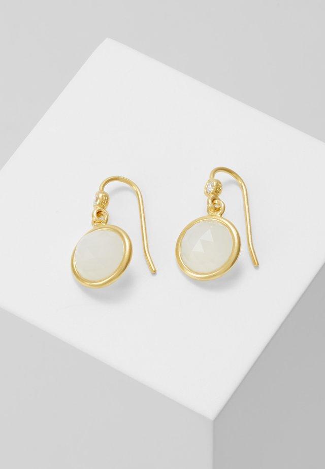 MOONEARRINGS - Earrings - gold-coloured/white