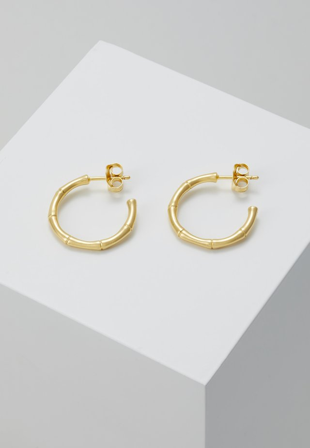 BAMBOO HOOPS - Earrings - gold-coloured